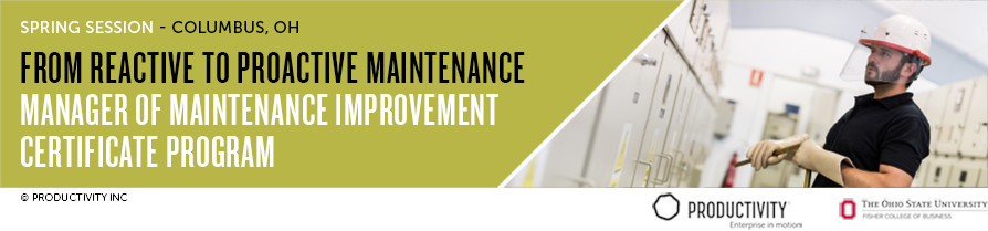Manager of Maintenance Improvement Certificate Spring