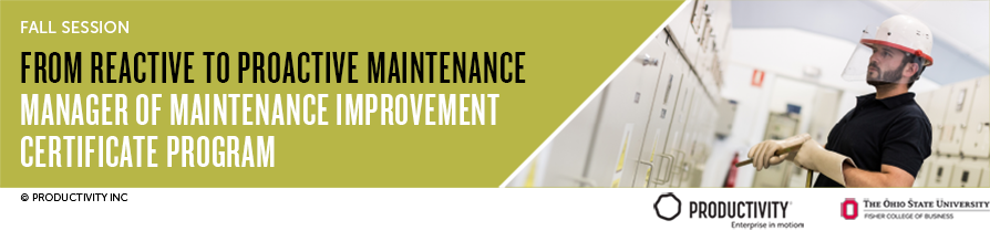 Manager of Maintenance Improvement Certificate