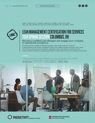 Lean Management Certification for Services – LMAC - Columbus, OH ...