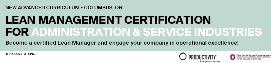 Lean Manager Certification Banner