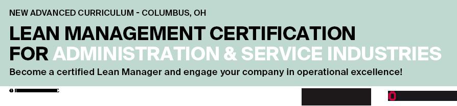 Lean Manager Certification Banner